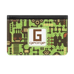 Industrial Robot 1 Genuine Leather ID & Card Wallet - Slim Style (Personalized)