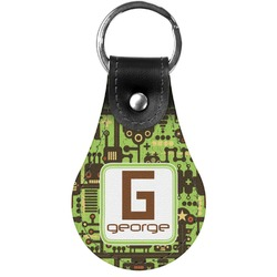 Industrial Robot 1 Genuine Leather  Keychain (Personalized)