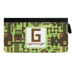 Industrial Robot 1 Genuine Leather Ladies Zippered Wallet (Personalized)