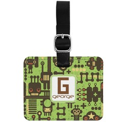 Industrial Robot 1 Genuine Leather Rectangular  Luggage Tag (Personalized)