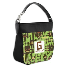 Industrial Robot 1 Hobo Purse w/ Genuine Leather Trim (Personalized)