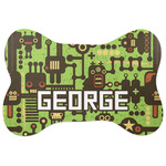 Industrial Robot 1 Bone Shaped Dog Food Mat (Personalized)