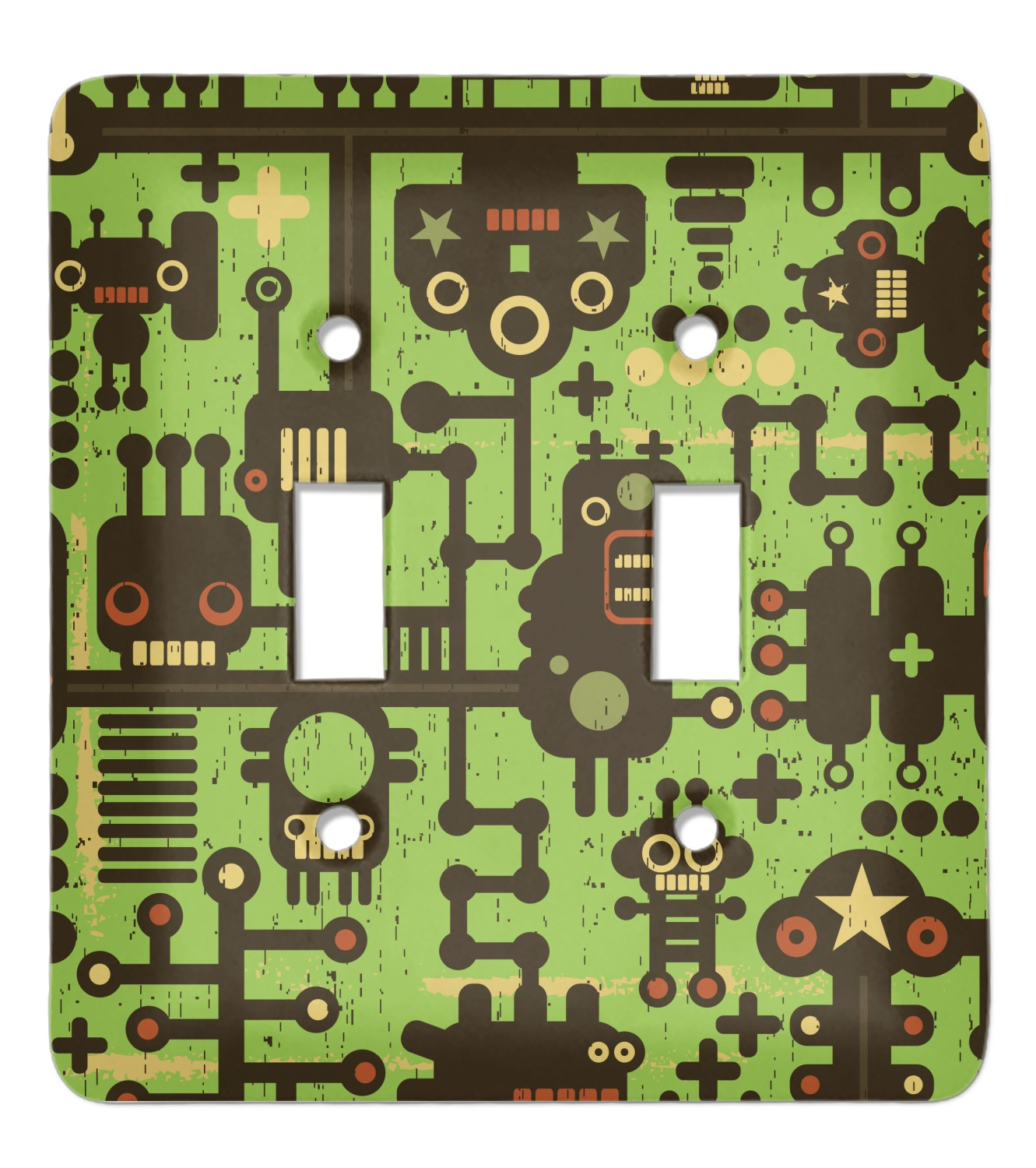 Industrial Robot 1 Light Switch Cover (2 Toggle Plate