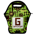 Industrial Robot 1 Lunch Bag w/ Name and Initial