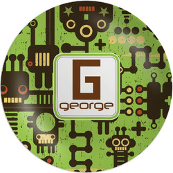 """Industrial Robot 1 Melamine Plate - 8"""" (Personalized)"""