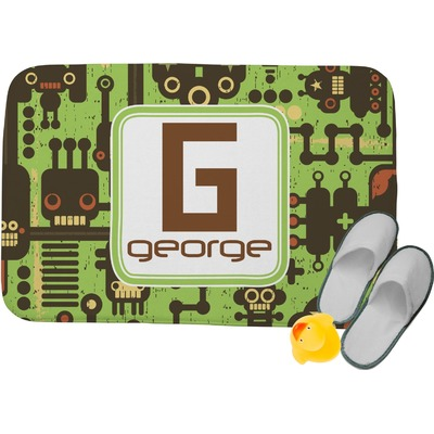 "Industrial Robot 1 Memory Foam Bath Mat - 34""x21"" (Personalized)"