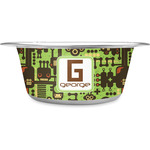 Industrial Robot 1 Stainless Steel Dog Bowl (Personalized)