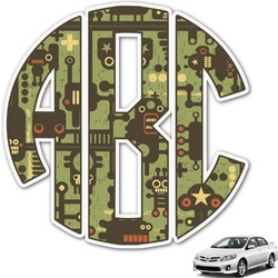 Industrial Robot 1 Monogram Car Decal (Personalized)