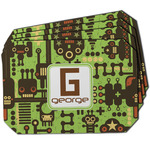 Industrial Robot 1 Dining Table Mat - Octagon w/ Name and Initial