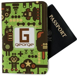 Industrial Robot 1 Passport Holder - Fabric (Personalized)