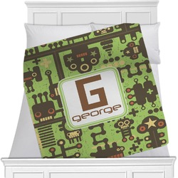 Industrial Robot 1 Minky Blanket (Personalized)