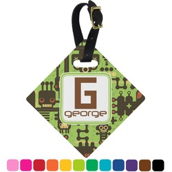 Industrial Robot 1 Diamond Luggage Tag (Personalized)