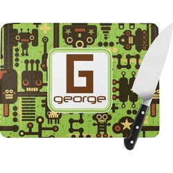 Industrial Robot 1 Rectangular Glass Cutting Board (Personalized)