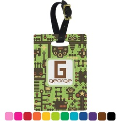 Industrial Robot 1 Rectangular Luggage Tag (Personalized)