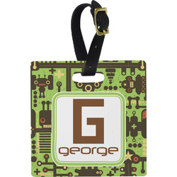 Industrial Robot 1 Square Luggage Tag (Personalized)