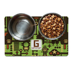 Industrial Robot 1 Dog Food Mat (Personalized)