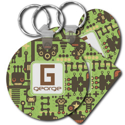 Industrial Robot 1 Plastic Keychains (Personalized)