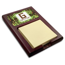 Industrial Robot 1 Red Mahogany Sticky Note Holder (Personalized)