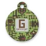 Industrial Robot 1 Round Pet Tag (Personalized)