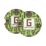 Industrial Robot 1 Sandstone Car Coasters (Personalized)