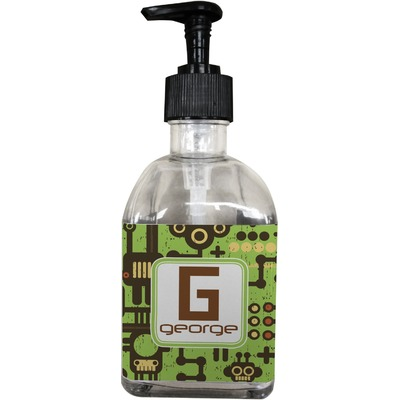 Industrial Robot 1 Soap/Lotion Dispenser (Glass) (Personalized)