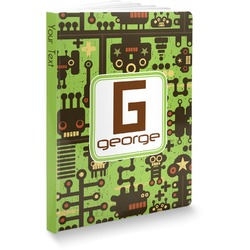 """Industrial Robot 1 Softbound Notebook - 7.25"""" x 10"""" (Personalized)"""