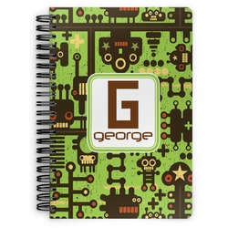 Industrial Robot 1 Spiral Bound Notebook (Personalized)