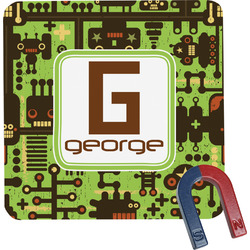 Industrial Robot 1 Square Fridge Magnet (Personalized)