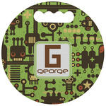 Industrial Robot 1 Stadium Cushion (Round) (Personalized)