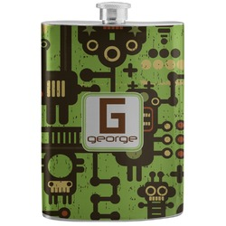 Industrial Robot 1 Stainless Steel Flask (Personalized)