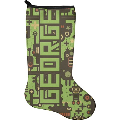 Industrial Robot 1 Christmas Stocking - Neoprene (Personalized)