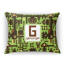 Industrial Robot 1 Rectangular Throw Pillow Case (Personalized)