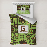 Industrial Robot 1 Toddler Bedding w/ Name and Initial