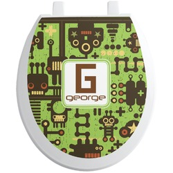 Industrial Robot 1 Toilet Seat Decal (Personalized)