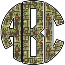 Industrial Robot 1 Monogram Decal - Custom Sized (Personalized)