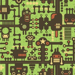 Industrial Robot 1 Wallpaper & Surface Covering