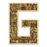 Industrial Robot 1 Genuine Maple or Cherry Wood Sticker (Personalized)