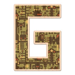Industrial Robot 1 Genuine Wood Sticker (Personalized)