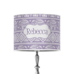 """Baby Elephant 8"""" Drum Lamp Shade - Poly-film (Personalized)"""