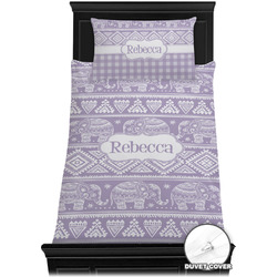 Baby Elephant Duvet Cover Set - Twin XL (Personalized)