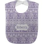 Baby Elephant Jersey Knit Baby Bib w/ Name or Text