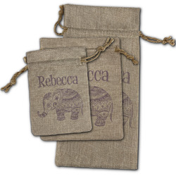 Baby Elephant Burlap Gift Bags (Personalized)