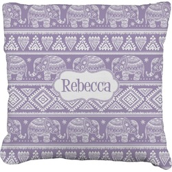 """Baby Elephant Faux-Linen Throw Pillow 26"""" (Personalized)"""