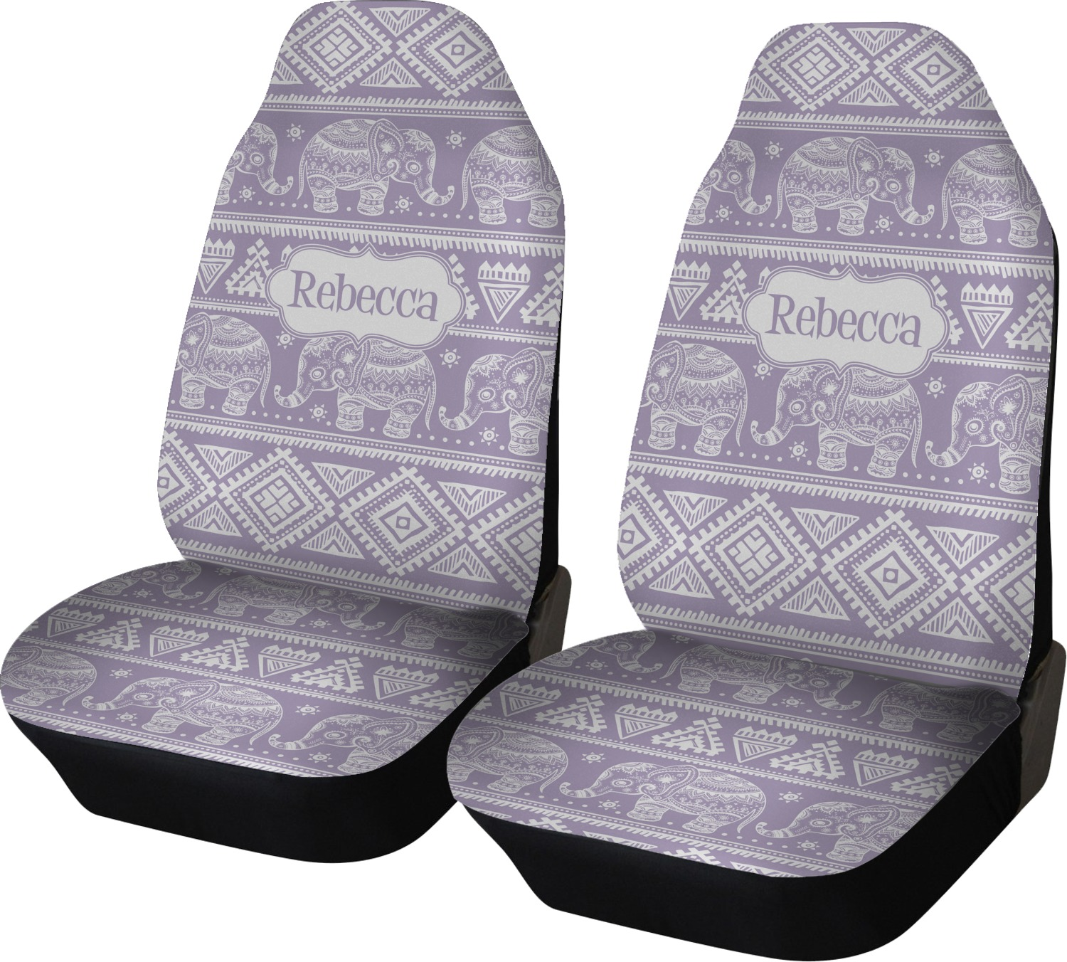 baby elephant car seat covers set of two personalized youcustomizeit. Black Bedroom Furniture Sets. Home Design Ideas
