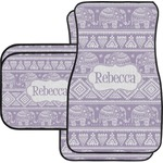 Baby Elephant Car Floor Mats Set - 2 Front & 2 Back (Personalized)