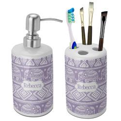 Baby Elephant Ceramic Bathroom Accessories Set (Personalized)