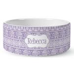 Baby Elephant Ceramic Pet Bowl (Personalized)