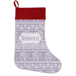Baby Elephant Holiday Stocking w/ Name or Text