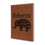 Baby Elephant Leatherette Journal (Personalized)