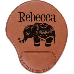 Baby Elephant Leatherette Mouse Pad with Wrist Support (Personalized)